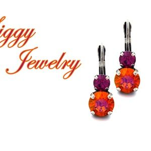 Swarovski Crystal Astral Pink and Fuchsia Earrings